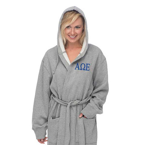 Alpha Omega Epsilon Hooded Sweatshirt Robe