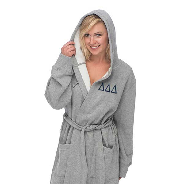 Delta Delta Delta Hooded Sweatshirt Robe