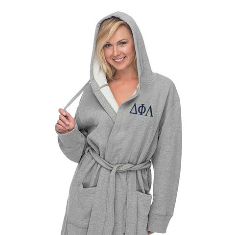 Delta Phi Lambda Hooded Sweatshirt Robe