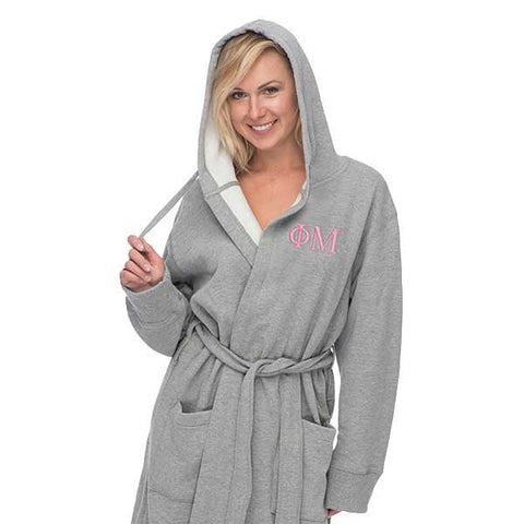 Phi Mu Hooded Sweatshirt Robe