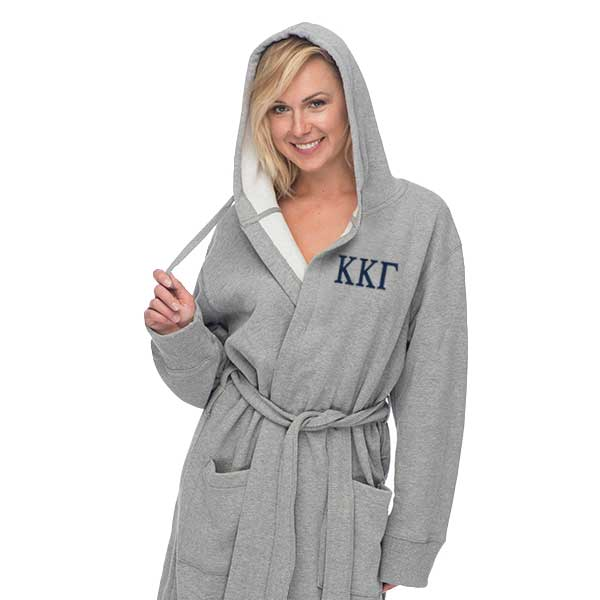 Kappa Kappa Gamma Hooded Sweatshirt Robe