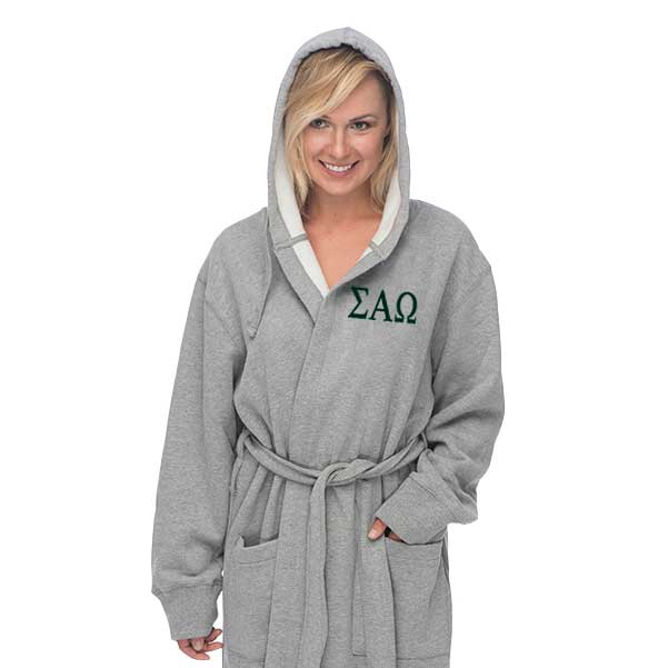 Sigma Alpha Omega Hooded Sweatshirt Robe