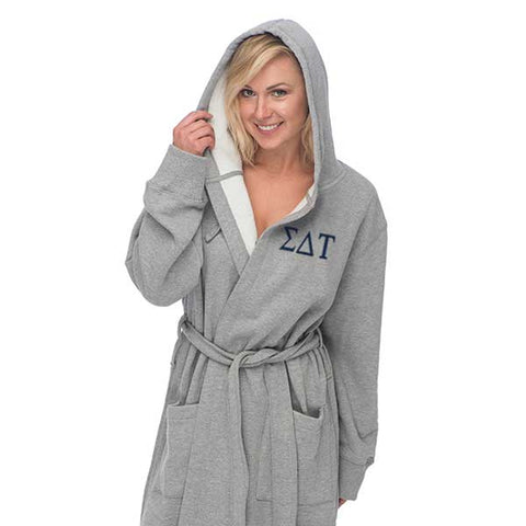 Sigma Delta Tau Hooded Sweatshirt Robe