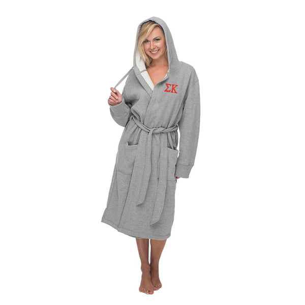 Sigma Kappa Hooded Sweatshirt Robe
