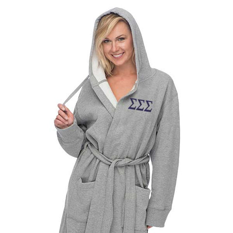 Sigma Sigma Sigma Hooded Sweatshirt Robe