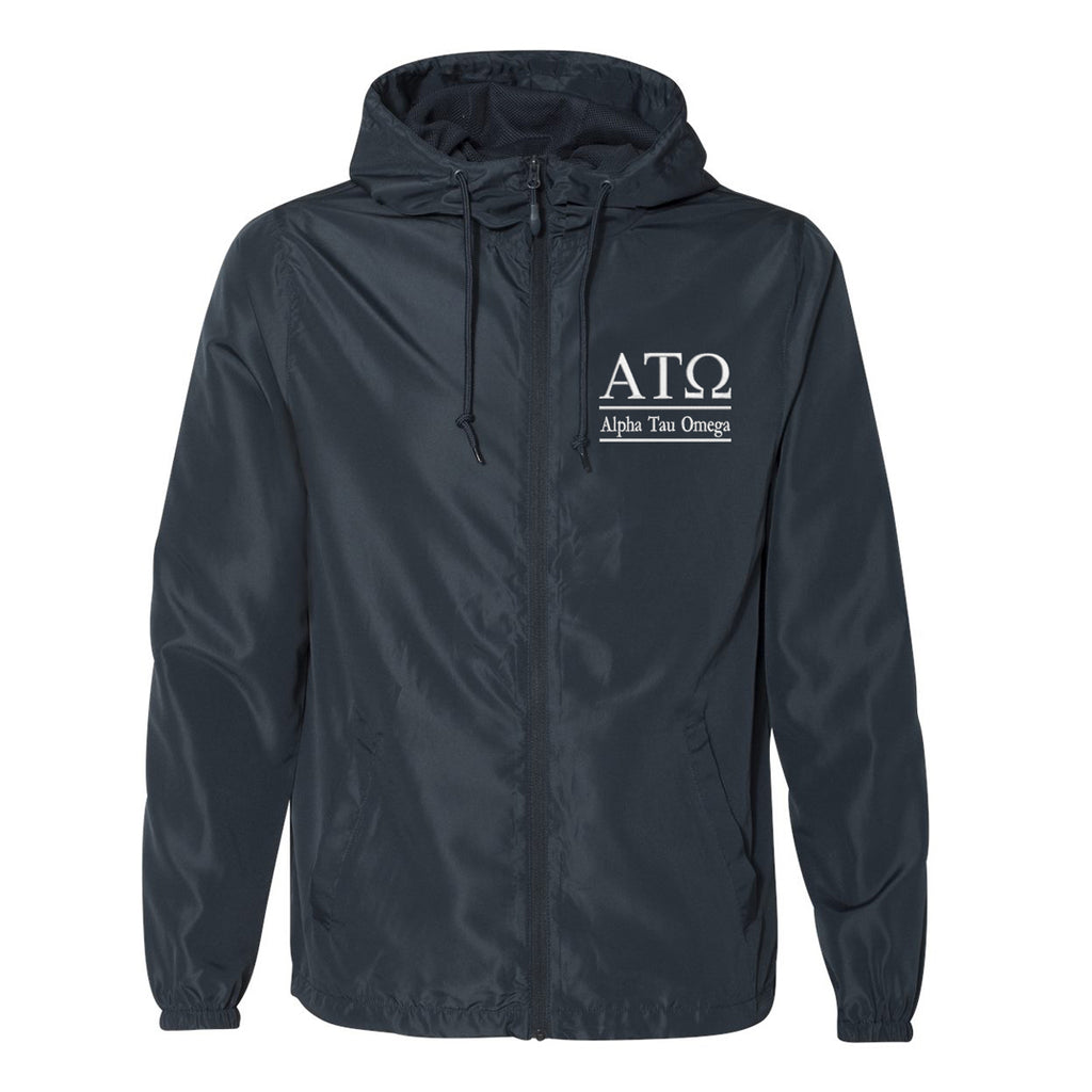 Alpha Tau Omega Full Zip Windbreaker