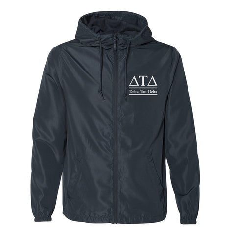 Delta Tau Delta Full Zip Windbreaker