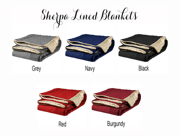 Alpha Sigma Phi Sherpa Lined Blanket