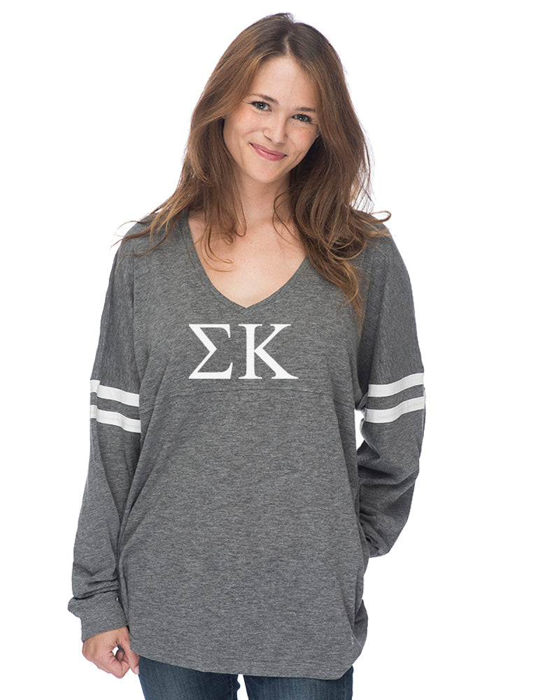 Sigma Kappa Varsity Long Sleeve T-Shirt