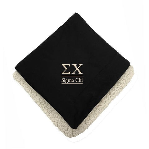 Sigma Chi Sherpa Lined Blanket