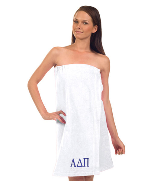 Alpha Delta Pi Terry Velour Spa Wrap