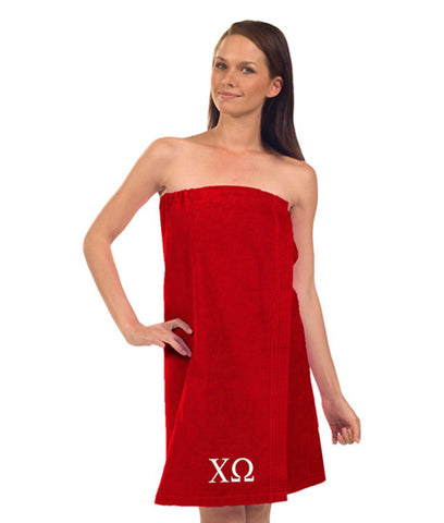 Chi Omega Terry Velour Spa Wrap