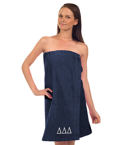 Delta Delta Delta Terry Velour Spa Wrap