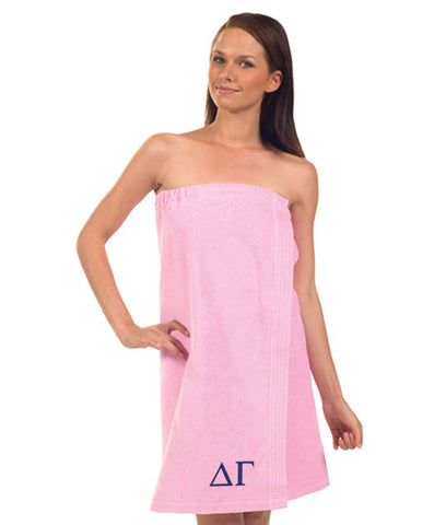 Delta Gamma Terry Velour Spa Wrap