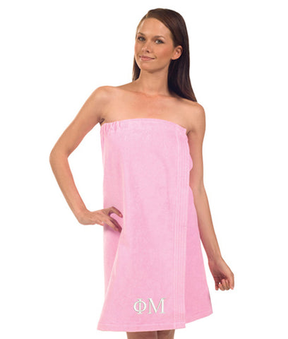 Phi Mu Terry Velour Spa Wrap