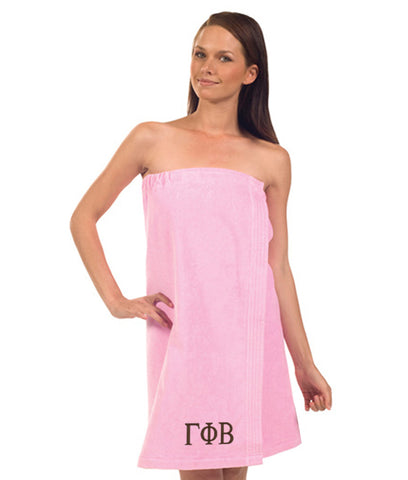 Gamma Phi Beta Terry Velour Spa Wrap