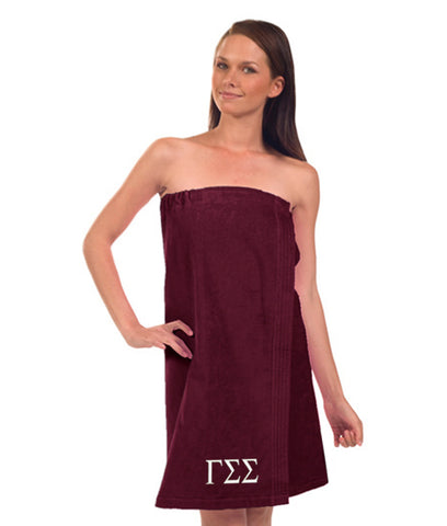 Gamma Sigma Sigma Terry Velour Spa Wrap