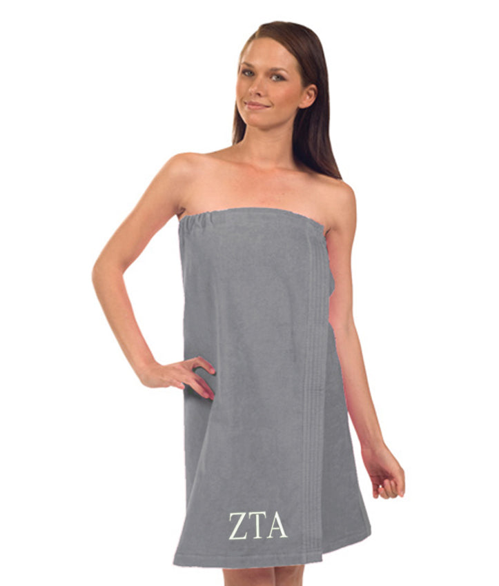 Zeta Tau Alpha Terry Velour Spa Wrap