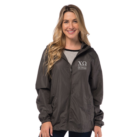 Chi Omega Lightweight Windbreaker Jacket