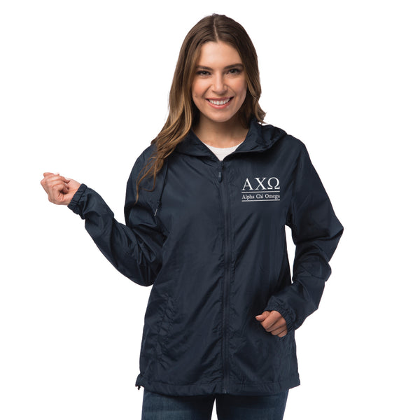 Alpha Chi Omega Lightweight Windbreaker Jacket