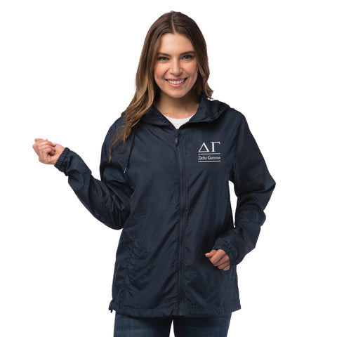 Delta Gamma Lightweight Windbreaker Jacket