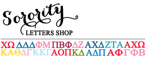 Sorority Letters Shop