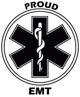 Proud EMT vinyl decal