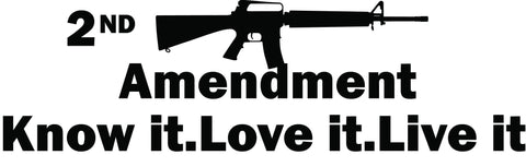 2nd Amendment Assualt Rifle Vinyl Decal