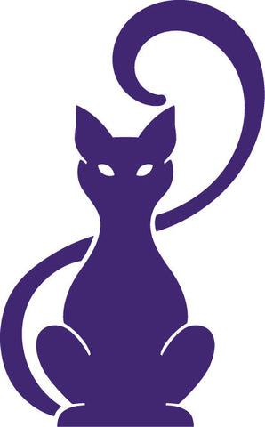 Abstract Cat Sitting vinyl decal