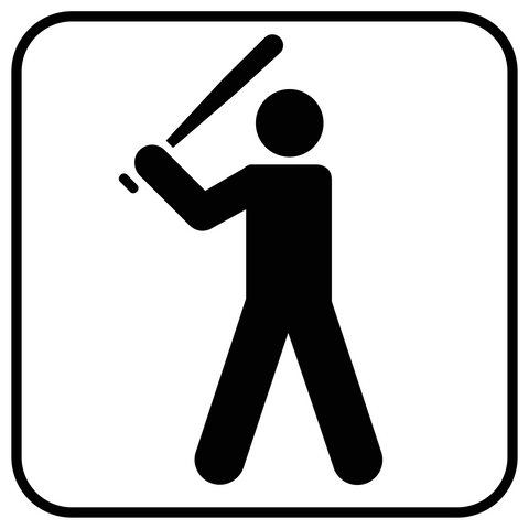 Baseball Sign Decal