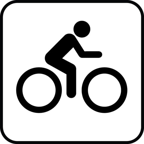 Biking Cyclist Sign vinyl decal