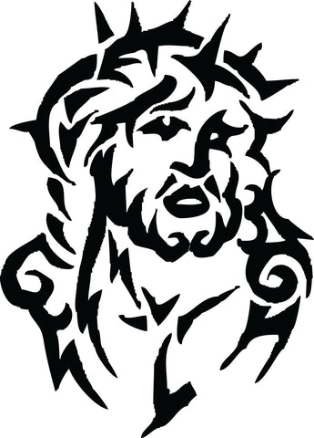 Tribal Jesus vinyl decal