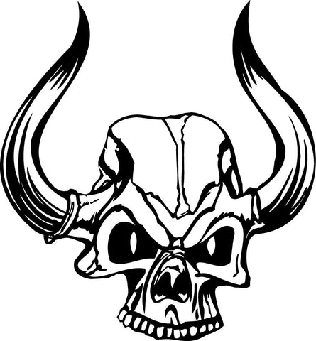 El Diablo Devil Skull vinyl decal