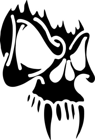 Fanged Skull vinyl decal