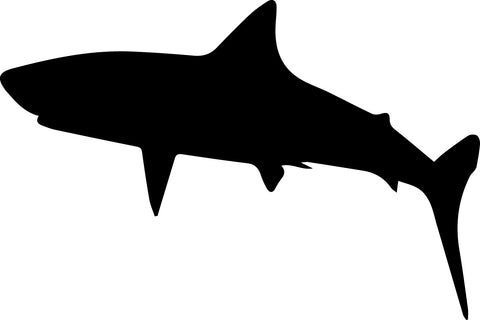 Great White Shark Swimming Sideways vinyl decal sticker