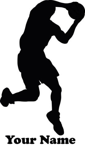 Basketball Jump Shot vinyl decal - Name Customizable