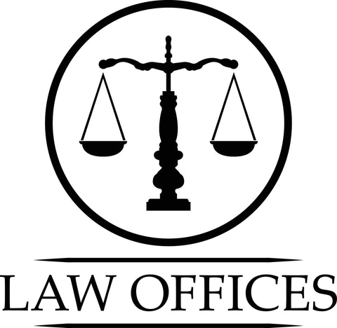 Law Office Scales of Justice - vinyl door and window decal