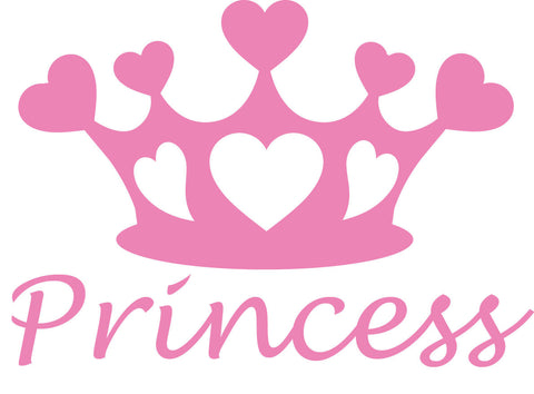 Princess Heart Tiara Vinyl Decal
