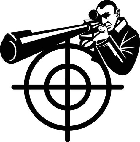 Sniper Assassin vinyl decal car sticker