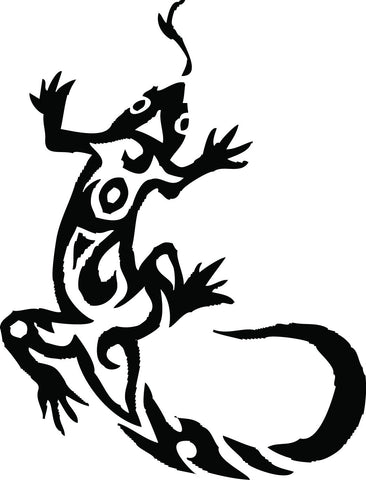 Tribal Gecko/Lizard vinyl decal