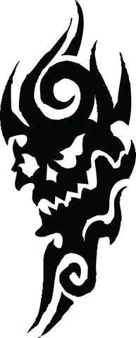 Tribal Skull vinyl decal