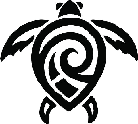 Tribal Turtle vinyl decal
