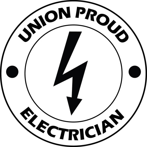 UNION PROUD ELECTRICIAN Vinyl Decal