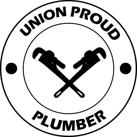 UNION PROUD PLUMBER vinyl decal