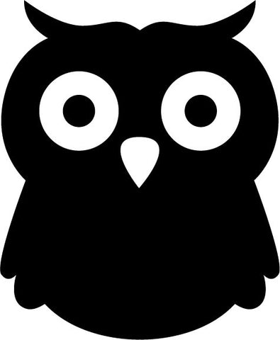 Baby Owl with Rounded Head and Big Eyes vinyl decal sticker