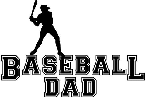 Baseball Dad Male Player - vinyl decal car sticker
