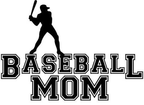 Baseball Mom Male Player - vinyl decal car sticker