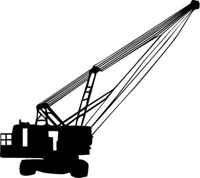 Construction Crawler Crane vinyl decal sticker