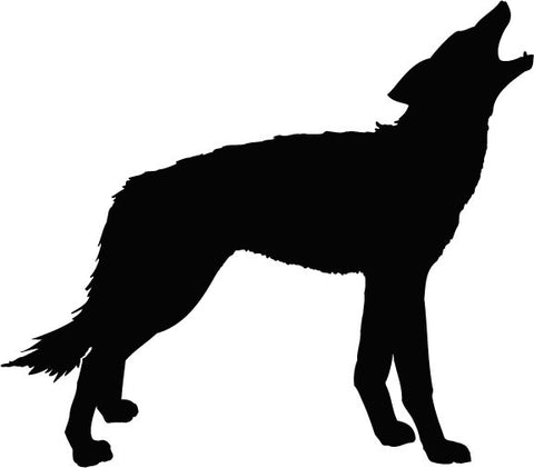 Howling Coyote vinyl decal sticker
