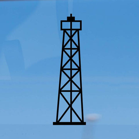 Oil Derrick Tower vinyl decal car sticker